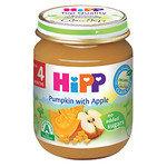 HIPP Био Бебешко пюре/тиква и ябълки/4м+ 125 гр.